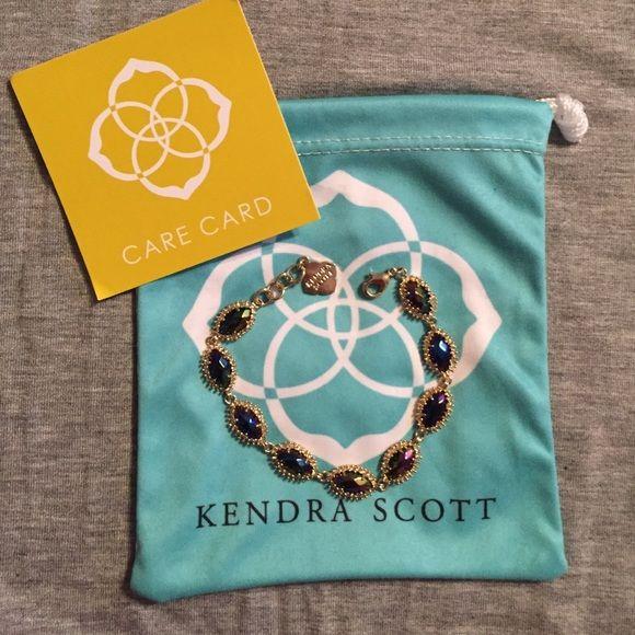 Kendra Scott bracelet KS Jana bracelet in the black iridescent stone. Kendra Scott Jewelry Bracelets