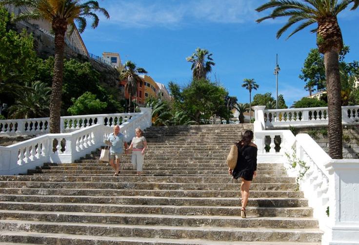 Stairs in Mahon, Menorca, #Spain #mediterranean   10-Day Mediterranean Wonders #menorcamediterranea