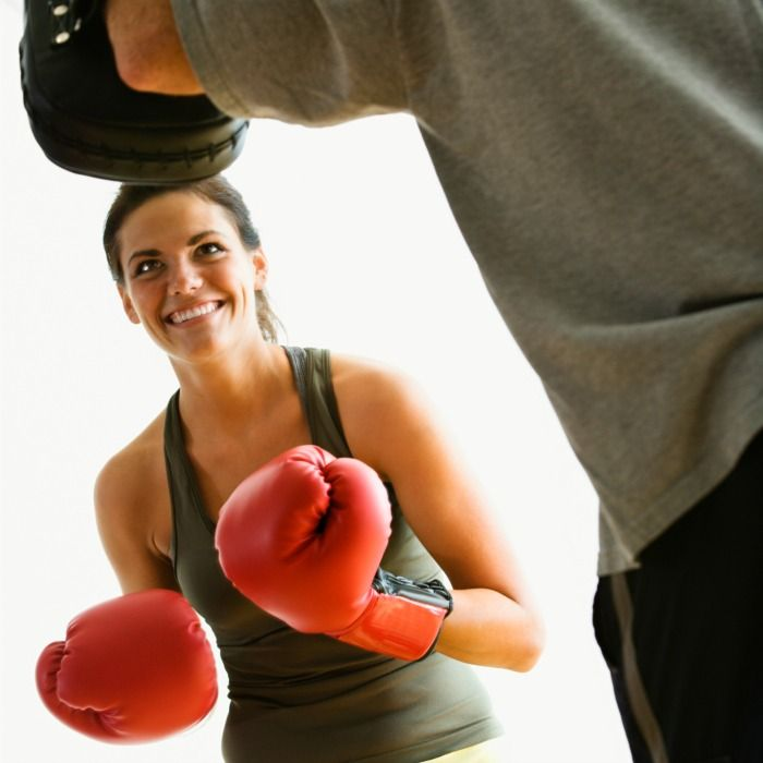 The same women you see strutting their amazing bodies in lacy bras and panties and teeny string bikinis also frequently pull on boxing gloves and step into the ring.