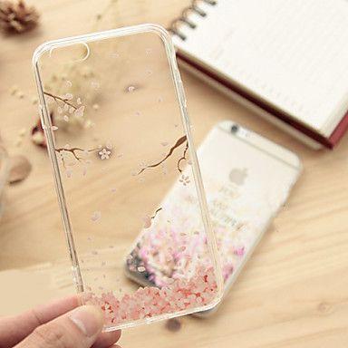 ifashion® roze gevallen bladeren patroon TPU zachte hoes voor de iPhone 6s 6 plus – EUR € 4.89