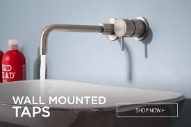 Image result for wall mounted bathroom taps uk