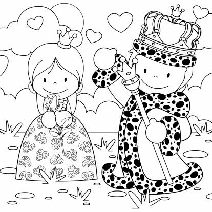 Koningsdag kleurplaat kaart - Kinderkaarten - Kaartje2go