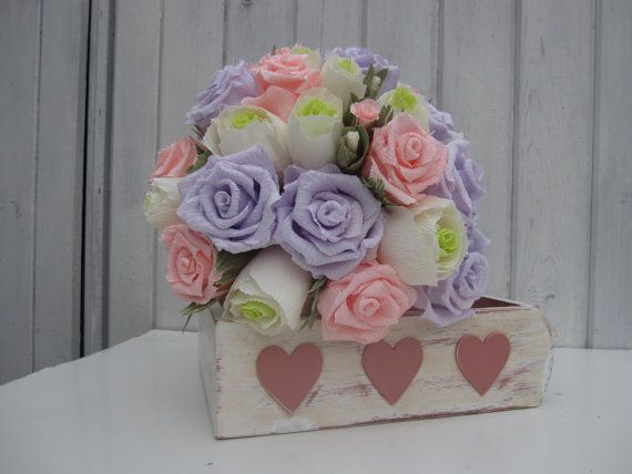 Wedding, BRIDE BOUQUET, high quality crepe paper flowers