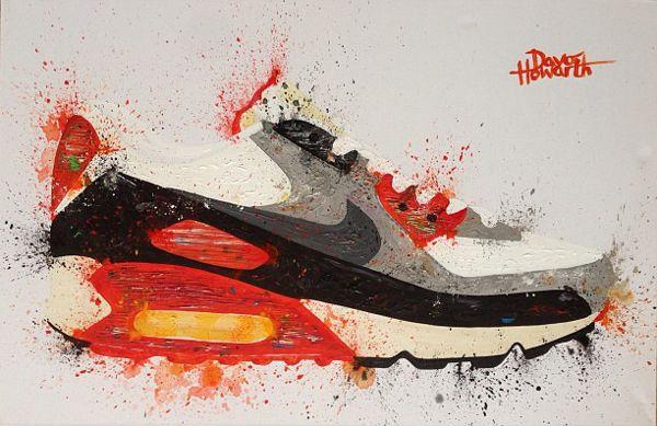 10 peintures de sneakers (Jordan, Nike..) par Davohowarth | Photo ...