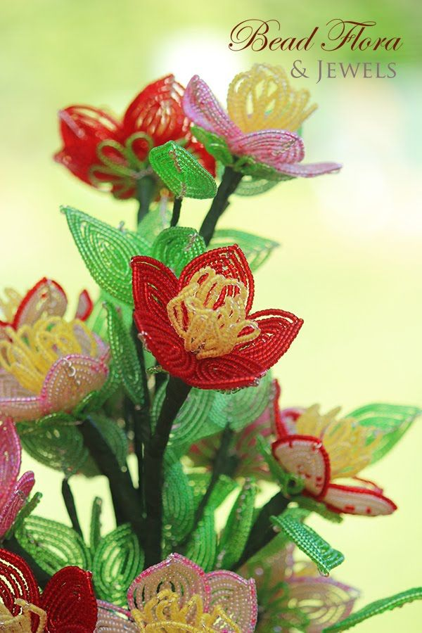 Fantasy wildflowers - Intro to French beaded flowers - PART 1
