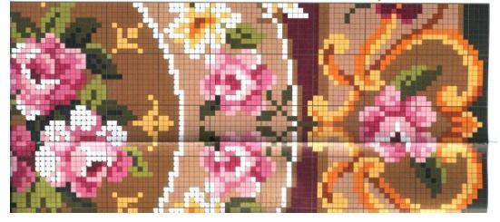roses rug (right center)