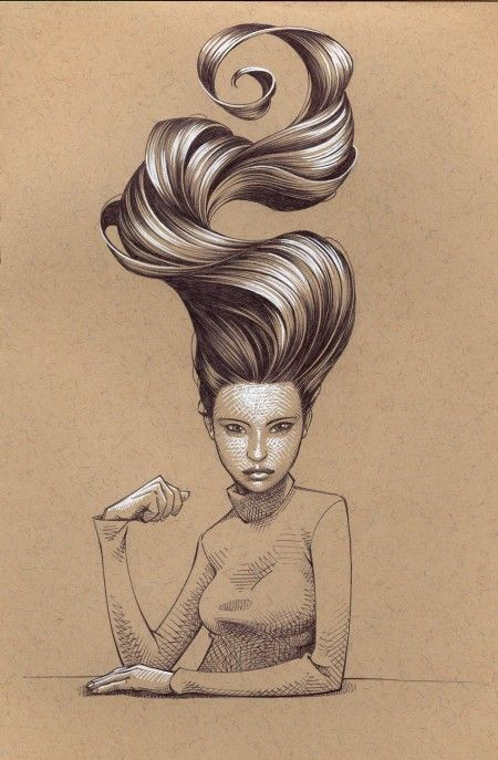 Hair gets me every time  Illustration by KEVIN KEELE