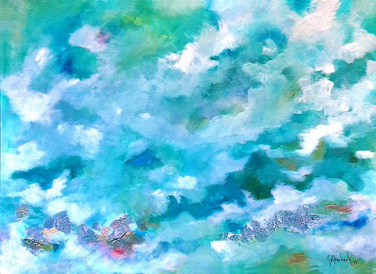 En Azules Acrílico y Mixta sobre tela 110 x 90 cm. 4800 US$