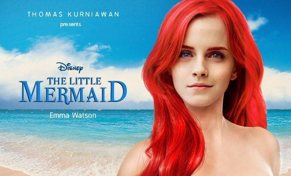 "Emma Watson to play Ariel, and Daniel Radcliffe will play Prince Eric in live action, ""The Little Mermaid.""Martina Stoessel, Prince Eric, Real Life, Action Movie, Disney Princesses, Emma Watson, The Little Mermaid, Disney Character, Disney Movie"