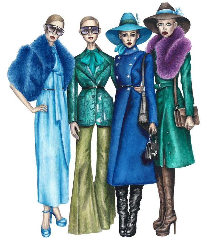 #Gucci #Squad by @mariaartie #FashionIllustrations | Be Inspirational ❥|Mz. Manerz: Being well dressed is a beautiful form of confidence, happiness & politeness