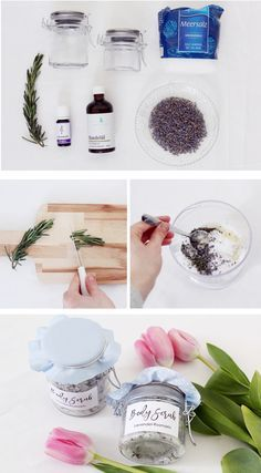 Im heutigen DIY Tutorial zeige ich euch, wie ihr euer eigenes Lavendel-Rosmarin Körperpeeling selber machen könnt. Besucht meinen Blog für die komplette DIY Anleitung und ein kostenloses Printable!