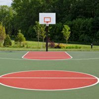1000 images about basketball court on pinterest locker for Building a basketball court at home