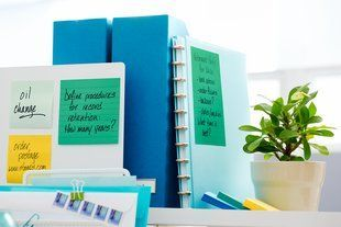 Post-it® Recycled Super Sticky Notes in 3 in x 3 in size support a better future by using recycled paper as no new trees were used. Super Sticky adhesive lets you leave your note on almost any vertical surface. Perfect size for leaving notes of encouragement. A World of Color Bora Bora Collection brings a refreshing palette that feels like an escape to paradise. 5 Pads/Pack.