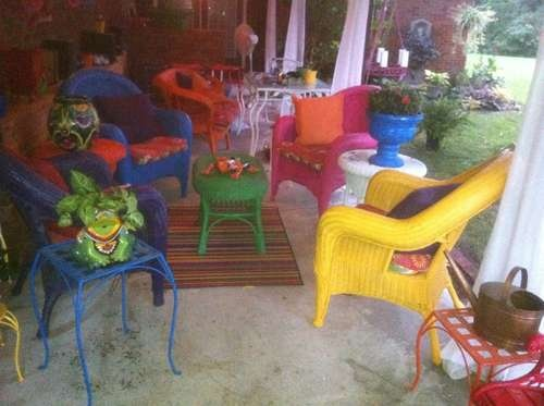 22 best images about patio furniture redo on pinterest for Furniture yard sale near me