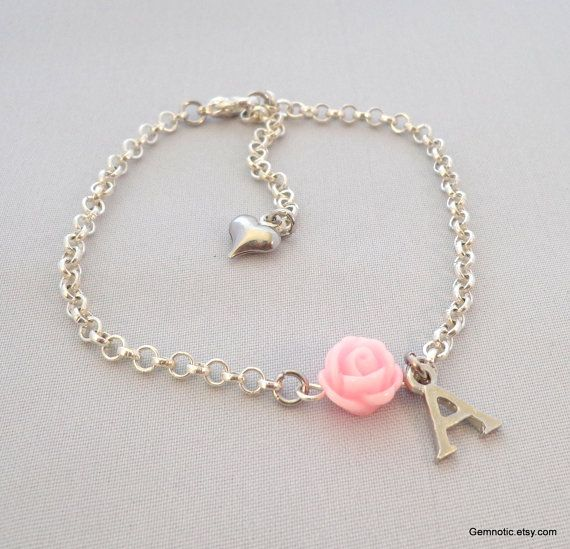 Hey, I found this really awesome Etsy listing at https://www.etsy.com/listing/161655698/personalized-flower-girl-bracelet-flower