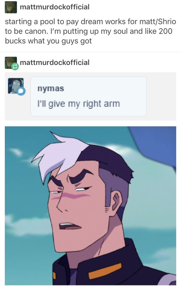 I'm not in on the Matt/Shiro ship once there is more content then oh boy I probably will be