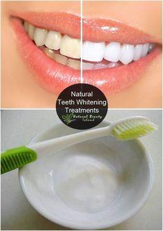 Três tratamentos naturais de  branqueamento natural dos dentes: 1. Bicarbonato de sódio e morangos.  2. Limão ou raspas de laranja.   3. Lavar com óleo prensado a frio.