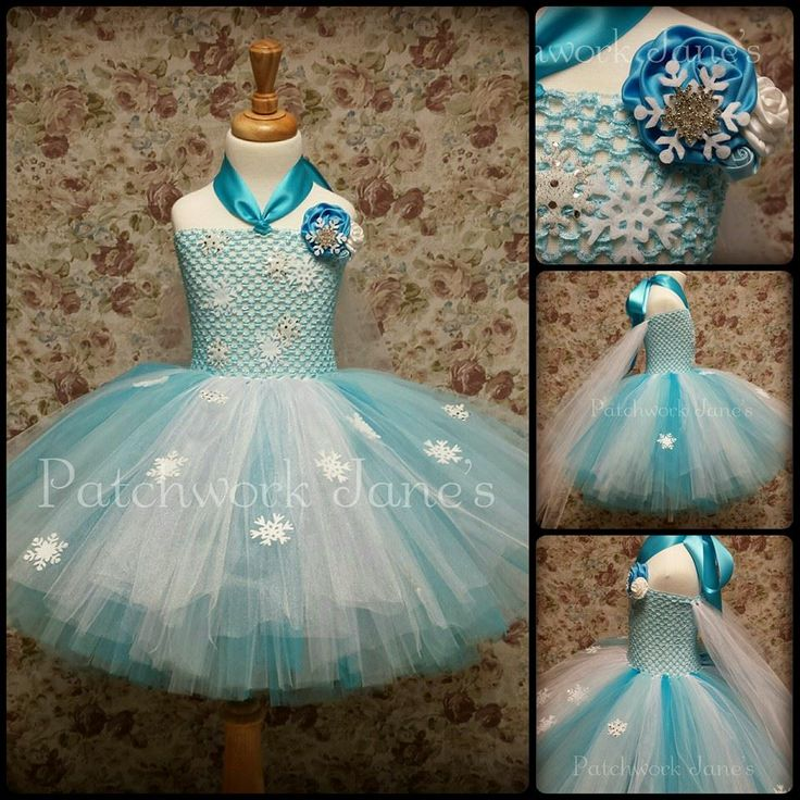 Elsa from Frozen Tutu Dress by Patchwork Jane's Tutu's & Accessories. Size 2 yr