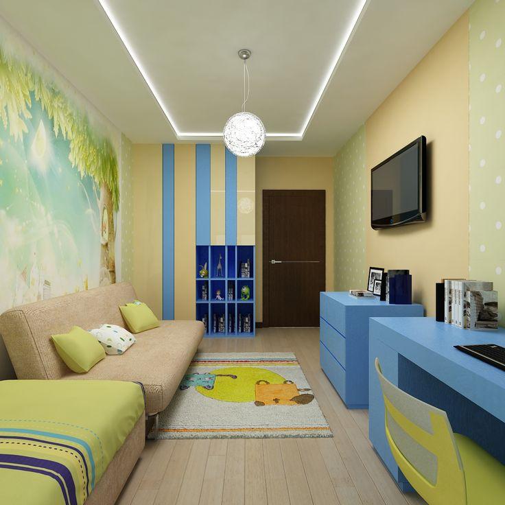 Жизнерадостный интерьер детской комнаты от дизайнера Татьяны Зайцевой.