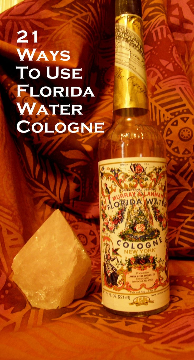 "21 Ways to Use Florida Water Cologne- Florida Water Cologne is an all purpose blessing in a bottle. It has been in use for over 200 years and it is still just as useful today. It is a staple in many different spiritual traditions. In my post Bless your soul with Florida Water I talk about how "" it is used everywhere from Peru to Italy to Surinam for sacred blessings.  Florida Water is recommended for dozens of uses and here are a few to get you started."