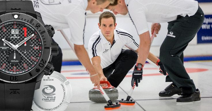 Edox Class-1 WCF Edition is the official timepiece of the European Curling Championship 2014