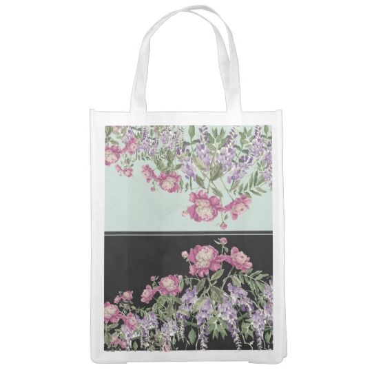 GROCERIES IN STYLE REUSABLE GROCERY BAG