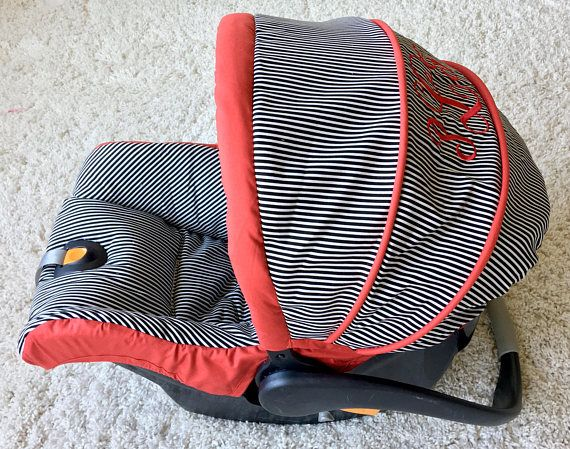 Custom Infant Car Seat Covers 4 Pc Set for Car Seat Black