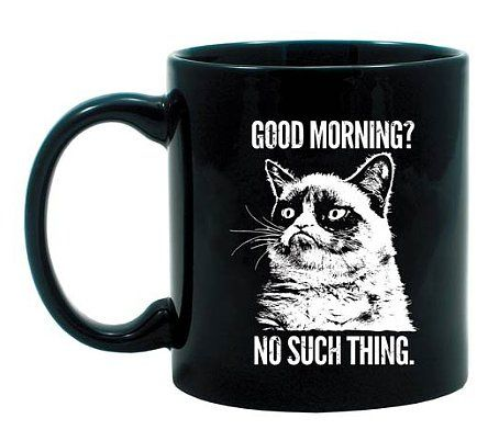 NEED! Grumpy Cat Mug: Are you a grouch in the mornings? This Grumpy Cat mug ($10) will echo your sentiments.