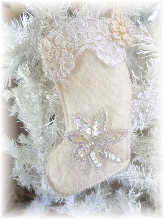 Shabby Chic Stocking Ornament
