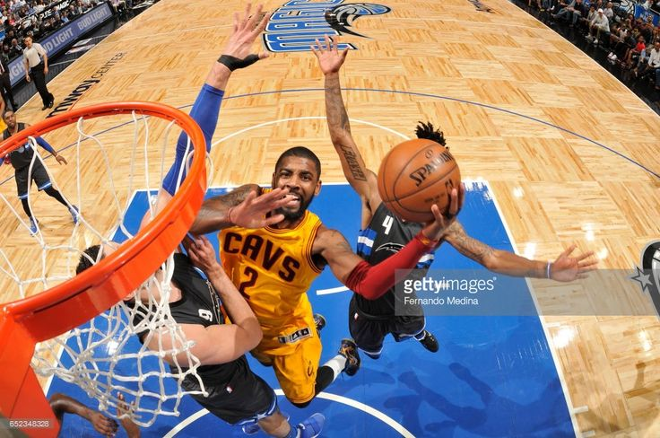News Photo : Kyrie Irving of the Cleveland Cavaliers dunks...