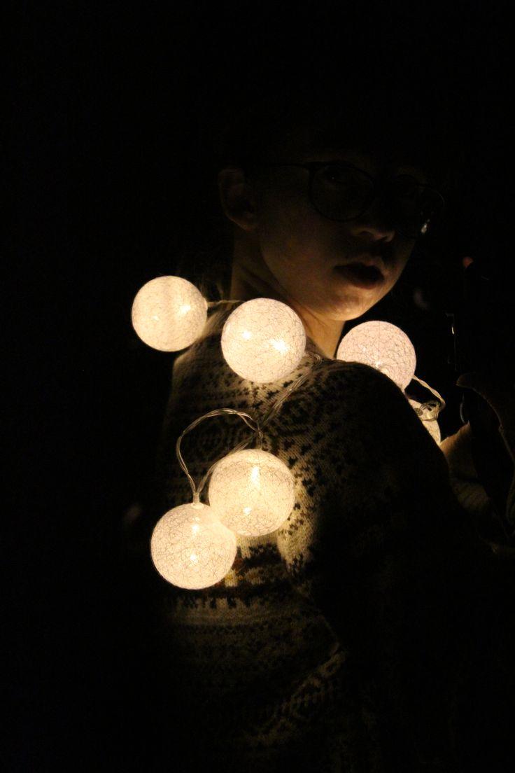#lights #party #ball #winter #moon #dark
