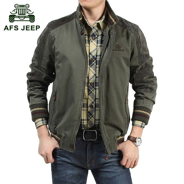 AFS JEEP Plus size M-5XL 2015 European style men's casual brand jacket coat male 100% pure cotton obesity man jaqueta coats #608 US $55.78-59.38 /piece  CLICK LINK TO BUY THE PRODUCT  http://goo.gl/oYWEYs