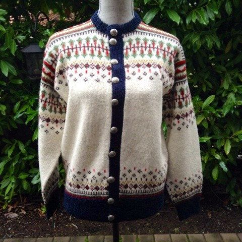 Fair Isle Norwegian wool sweater by WILLIAM SCHMIDT by VikingRaids