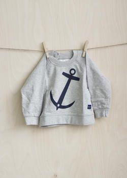 EM Anchor Sweater Children Lightgrey - emma och malena