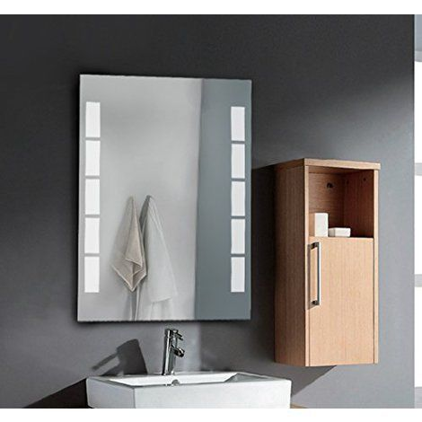 Miroir Lumineux LED de Salle de Bain Capteur Infrarouge Film antibué 50 x 70 x 3.5cm neuf 18 - Salle de bain, WC