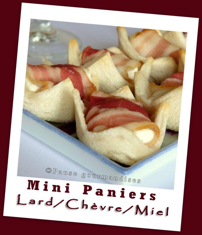 Mini paniers lard chèvre miel (24)