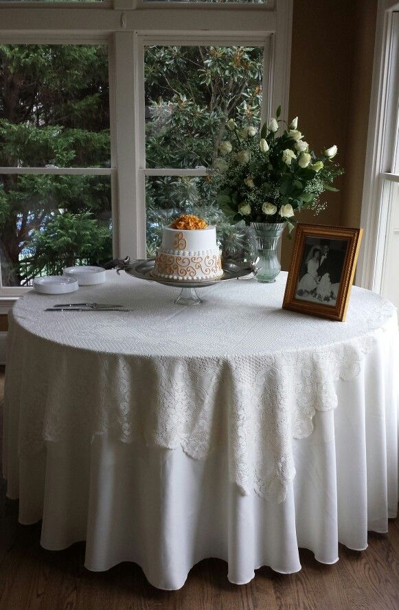 Th anniversary cake table catering ideas pinterest