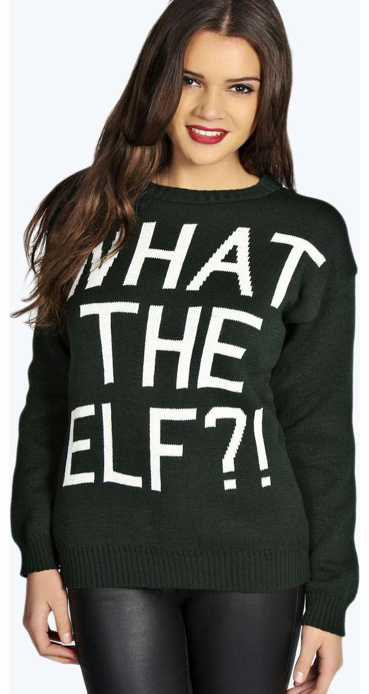 boohoo Judy What The Elf?! Christmas Jumper - bottle Go back to nature with your knits this season and add animal motifs to your must-haves. When youre not wrapping up in woodland warmers, nod to chunky Nordic knits and polo neck jumpers in peppered mar http://www.comparestoreprices.co.uk/womens-clothes/boohoo-judy-what-the-elf!-christmas-jumper--bottle.asp