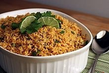 Cilantro Lime Basmati Brown Rice -- A healthy, vegetarian side for a Mexican meal
