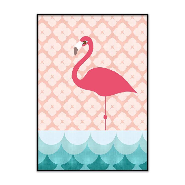 Babykamer poster flamingo
