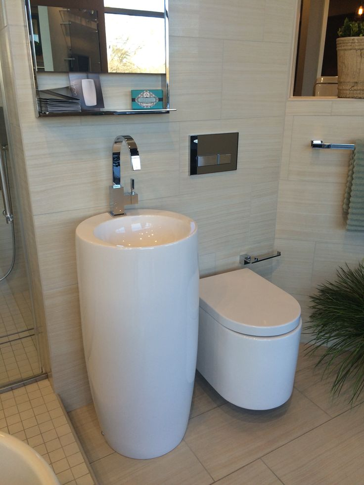 The new pedestal sink.