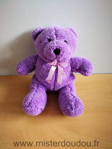 Doudou Ours - marque non connue - Violet