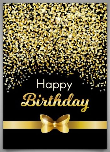 Happy Birthday gift gold sparkle - Original edit by ...