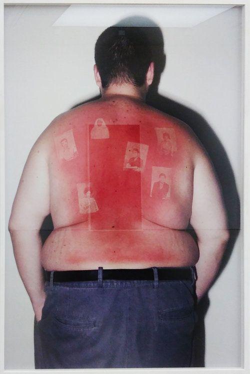 Thomas Mailaender: Illustrated people #14, 2014 Lambda print on paper mounted on aluminium and oak frame 110 x 80 cm