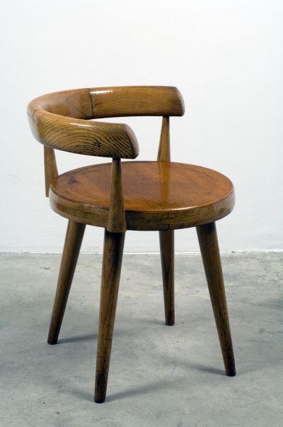 Swiveling armchair   Charlotte Perriand  Circa 1948 Frêne