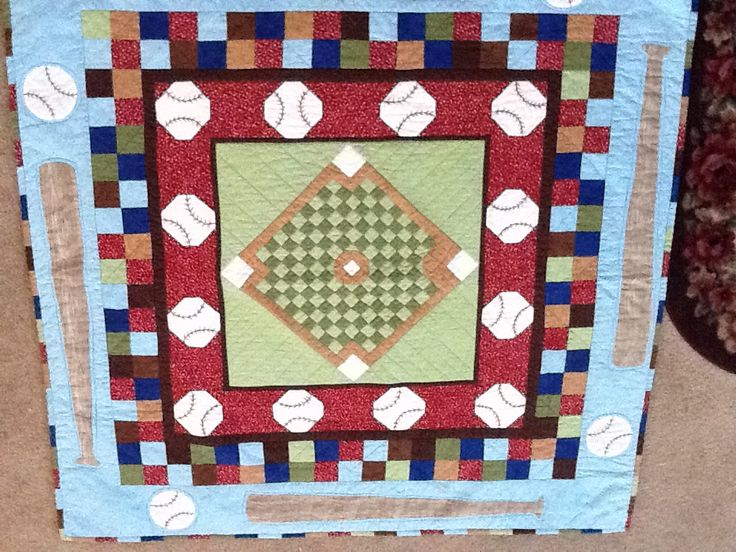 Man Cave Quilt Kit : Baseball quilt for one of my grandsons quilting