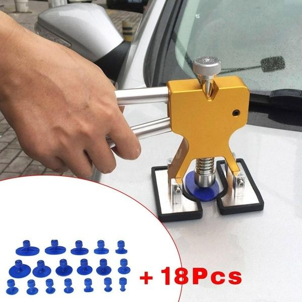 18pcs Glue Pulling Tabs Glue Tabs Auto Body Dent Repair Tool Pulling Tabs Car Dent Removal Body Repair Kit Automobile Repair Auto Body Repair Auto Repair