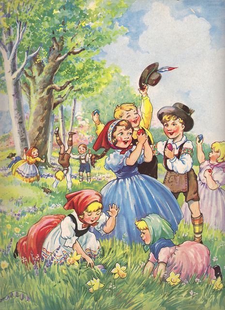 Easter illustration by Eulalie... this story was in my Favorite book!  The Bumper Book!