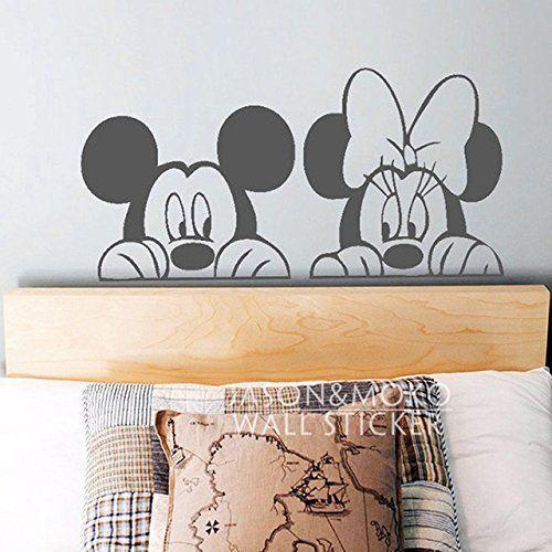 Cartoon Mickey Minnie Mouse Animal vinyle autocollant mural Sticker Mural Wallpaper cute les enfants Baby le décor des chambres à coucher…