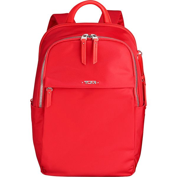 Tumi Voyageur Daniella Small Backpack - Hot Pink - Backpack Handbags ($275) ❤ liked on Polyvore featuring bags, backpacks, pink, padded backpack, shoulder strap backpack, strap backpack, genuine leather backpack and hot pink backpack